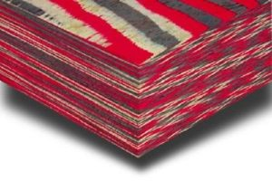 Color-ply red grey and white tweed